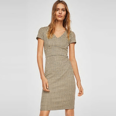 Hot sell woven ladies summer office dress